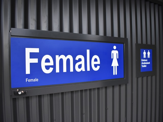 Signage attached to the Female-Friendly Sports Facility